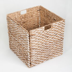 collapsible wicker storage box