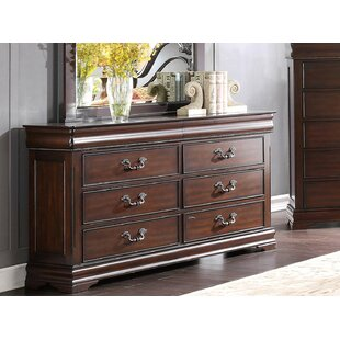 Pamella Wooden 6 Drawer Double Dresser by Darby Home Co