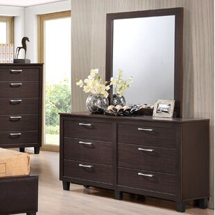 Amelie 6 Drawer Double Dresser with Mirror