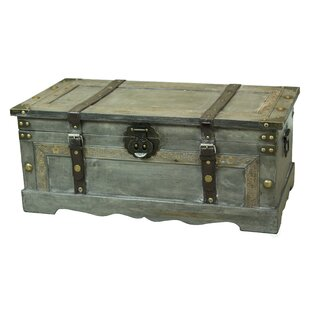 Nowlin Rustic Large Wooden Storage Trunk Williston Forge