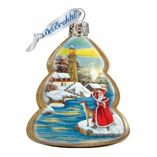 Lighthouse Santa Shaped Ornament by The Holiday Aisle