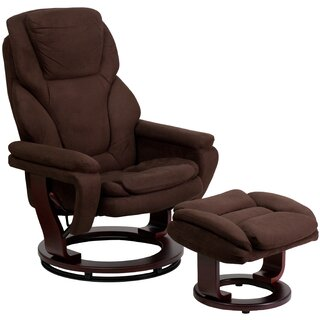 Weinstein Manual  Swivel Recliner with Ottoman by Ebern Designs SKU:CB855487 Information