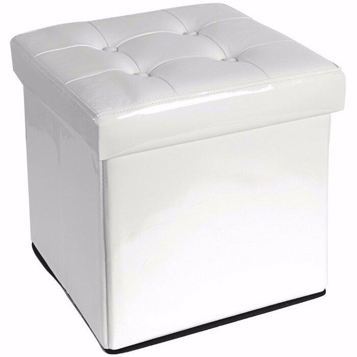 Astounding Chittenden Folding Leather Tufted Storage Ottoman Inzonedesignstudio Interior Chair Design Inzonedesignstudiocom