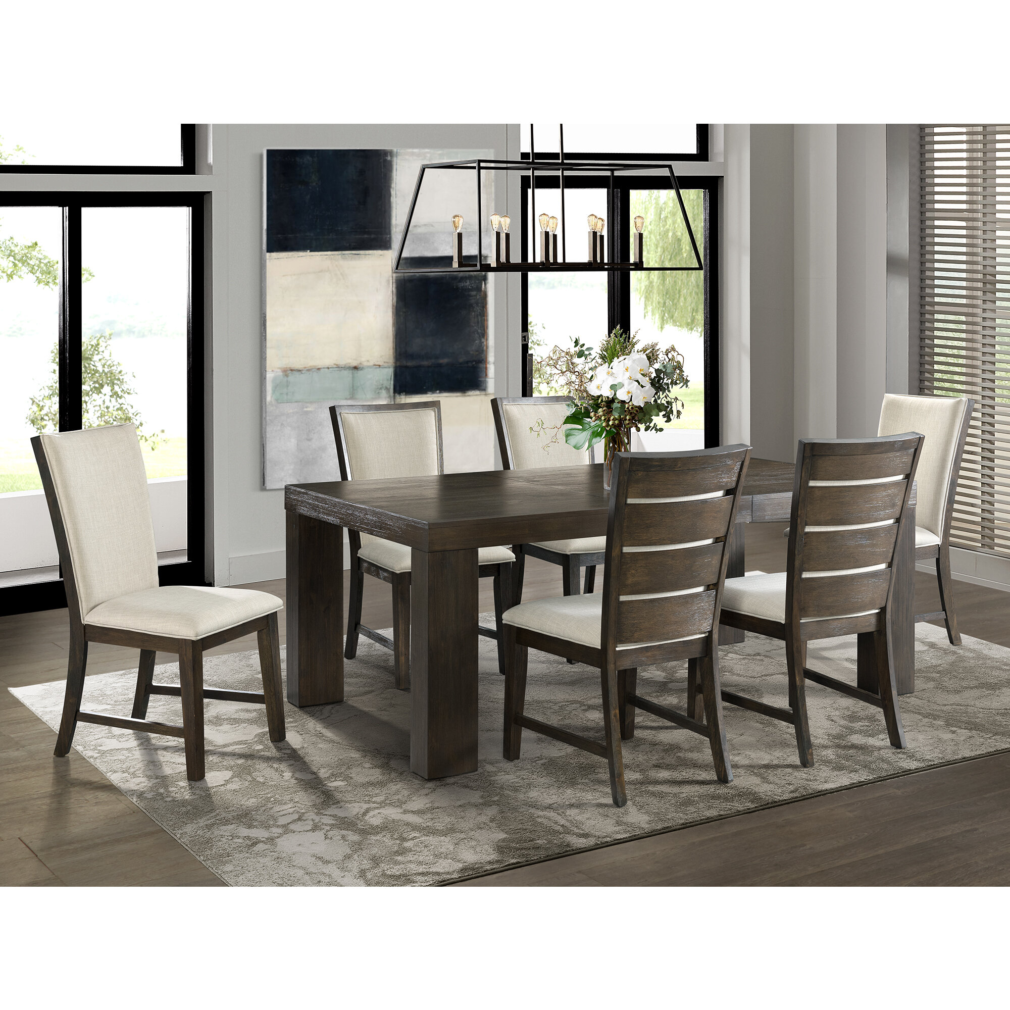 Laurel Foundry Modern Farmhouse Joey 7 Piece Solid Wood Dining Set Reviews Wayfair