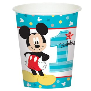 Disney Mickey Mouse 1st Birthday Paper Disposable Cup by NA Savings