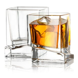 2db8599ee72 Carre Square Whiskey Glass 10 oz. Cocktail Glass (Set of 2)
