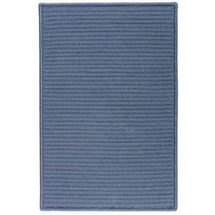 Simply Home Hand-Braided Lake Blue Indoor/Outdoor Area Rug ByColonial Mills