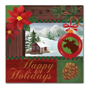 'Christmas Lodge I' Graphic Art Print on Wrapped Canvas