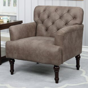 Wragby Faux Leather Button-Tufted Accent Armchair by Alcott Hill