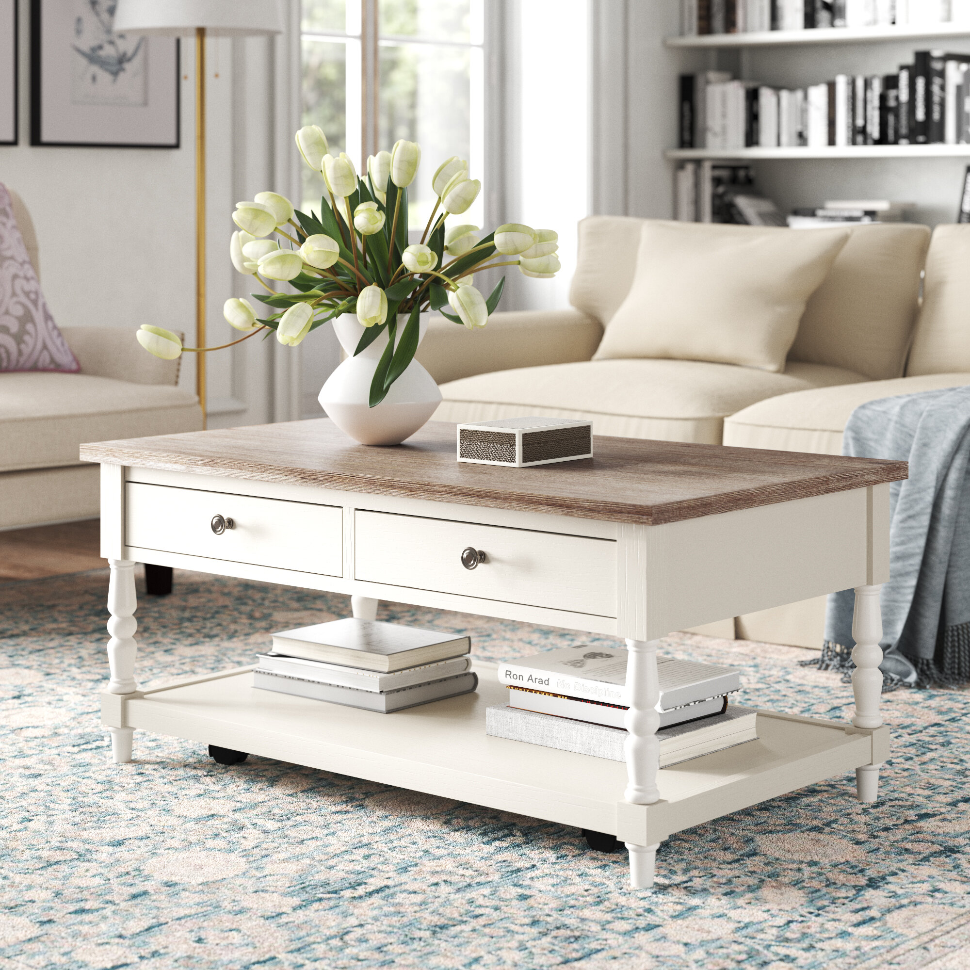 Kelly Clarkson Home Belfort Coffee Table With Storage Reviews Wayfair