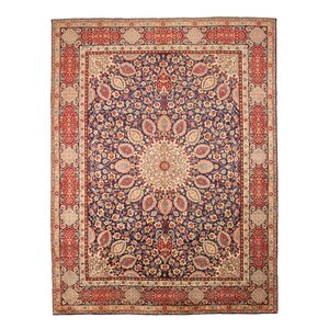 Knotted Red Area Rug