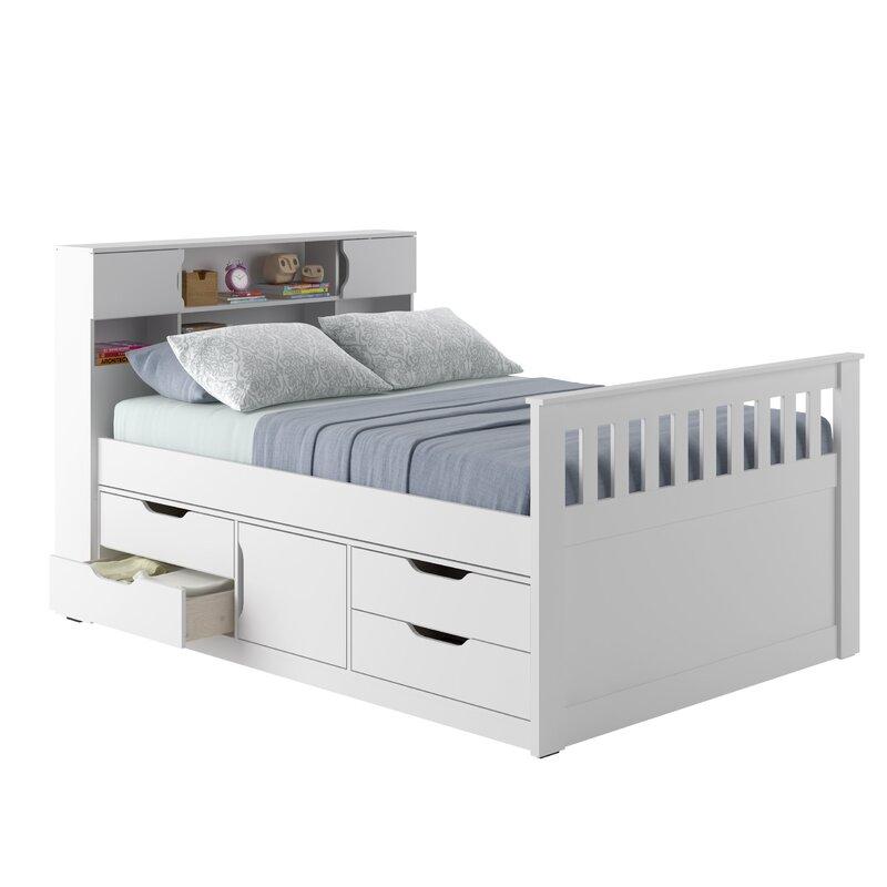 Double Storage Platform Bed