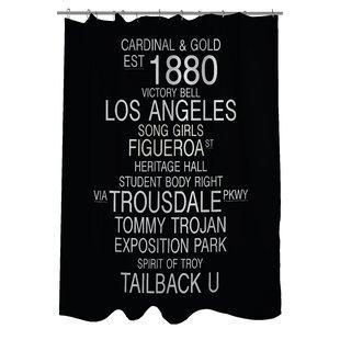 Los Angeles California Landmarks Single Shower Curtain