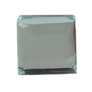 Modern Mirror Glass Cabinet Square Knob