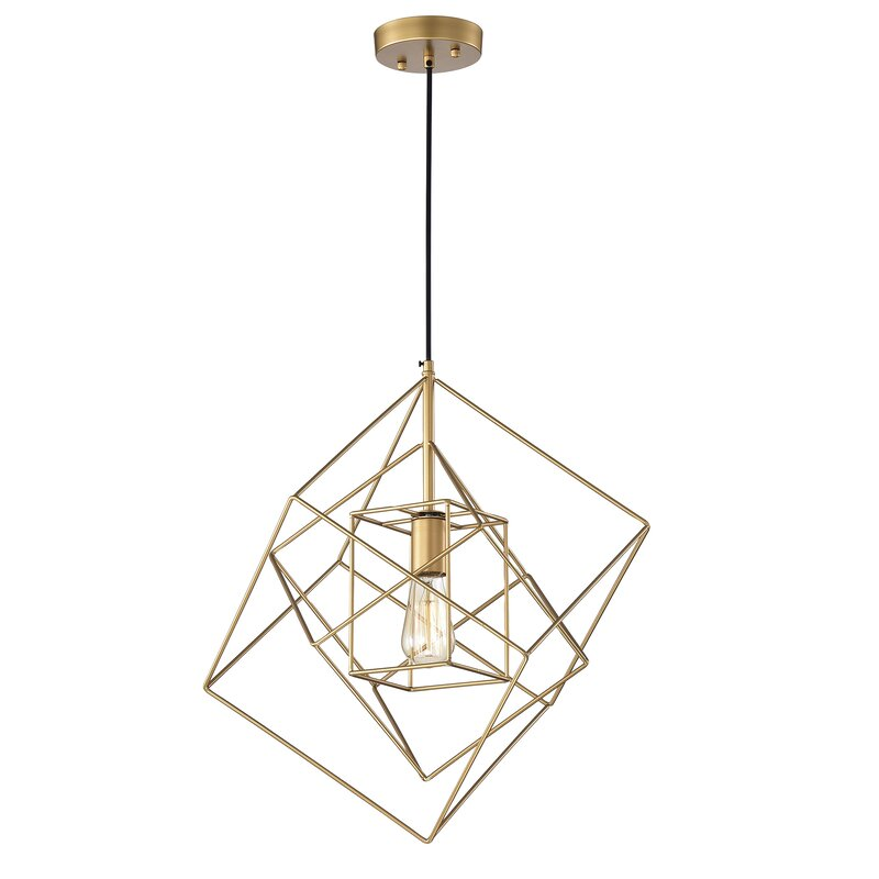 Brayden Studio Eastgate 1 Light Single Geometric Pendant Reviews Wayfair
