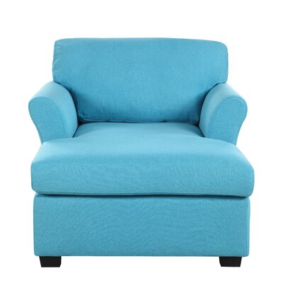 Clatterbuck Chaise Lounge Upholstery Color: Blue by Andover Mills