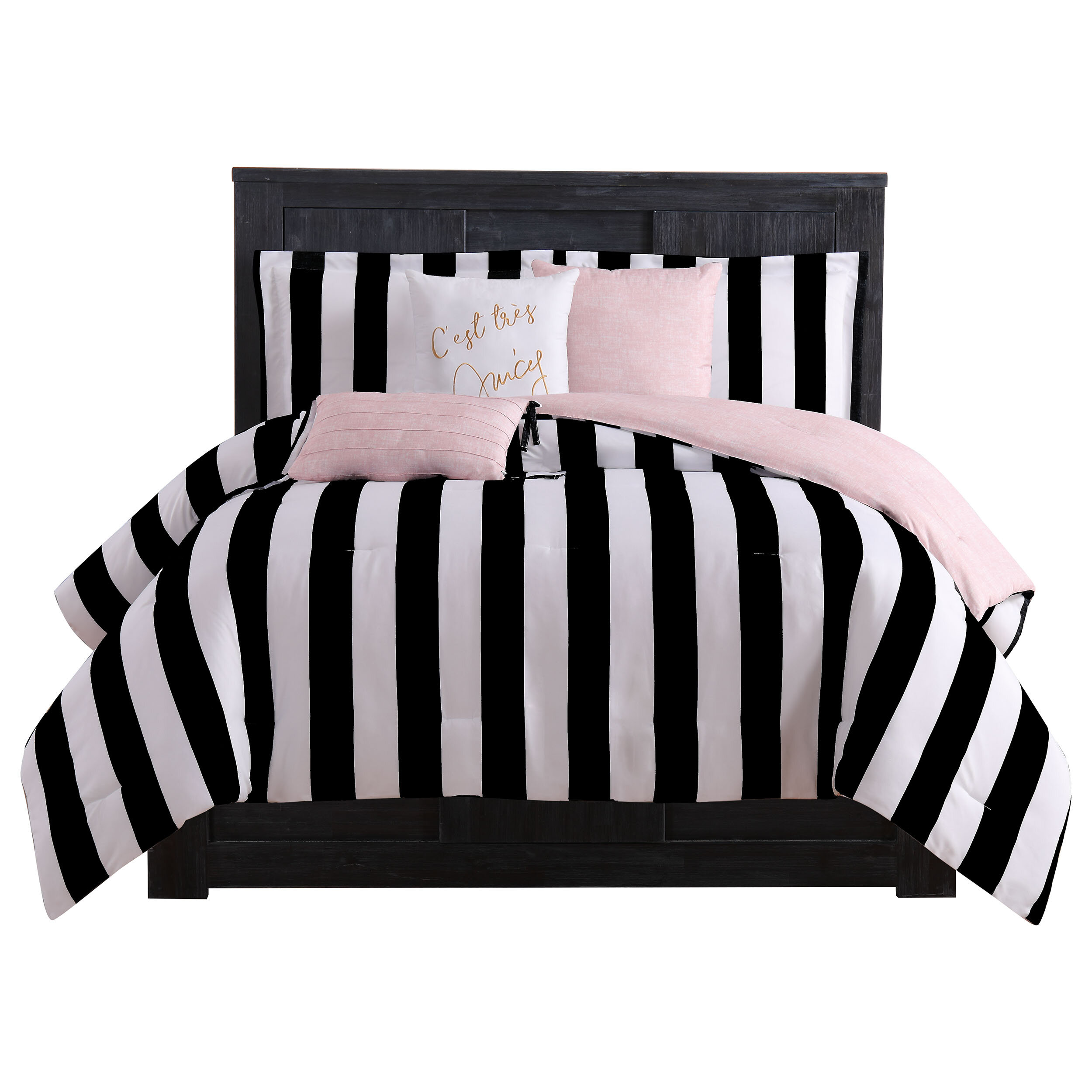 Juicy Couture Reversible Striped 6 Piece Comforter Set & Reviews