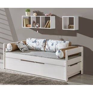 Adingdon Twin Platform Bed with Mattress and Trundle and Drawers