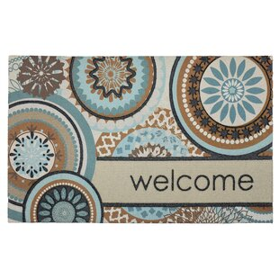 Janine Floral Mix Welcome Doormat by Latitude Run