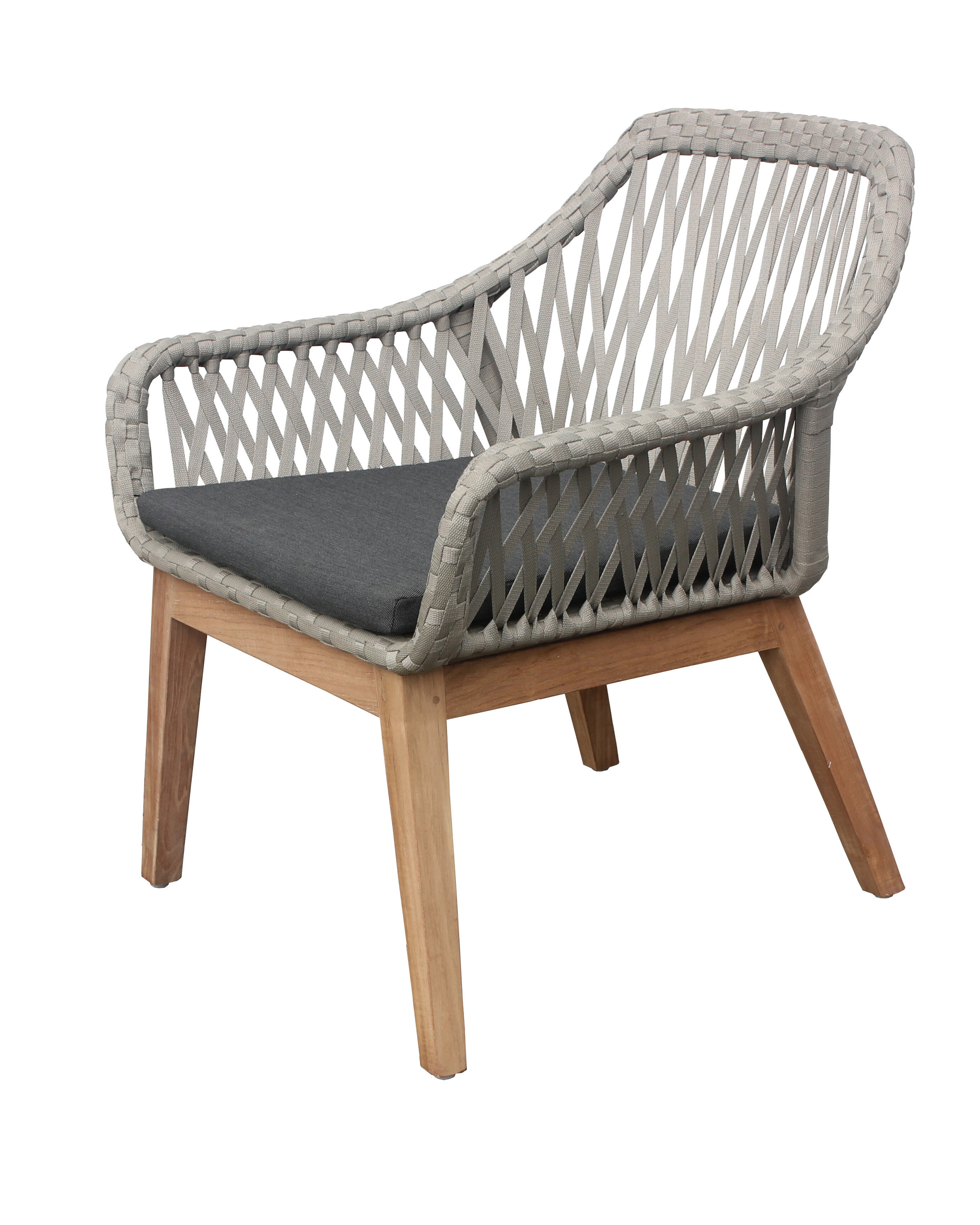 Bungalow Rose Alena Teak Patio Chair With Cushion Wayfair
