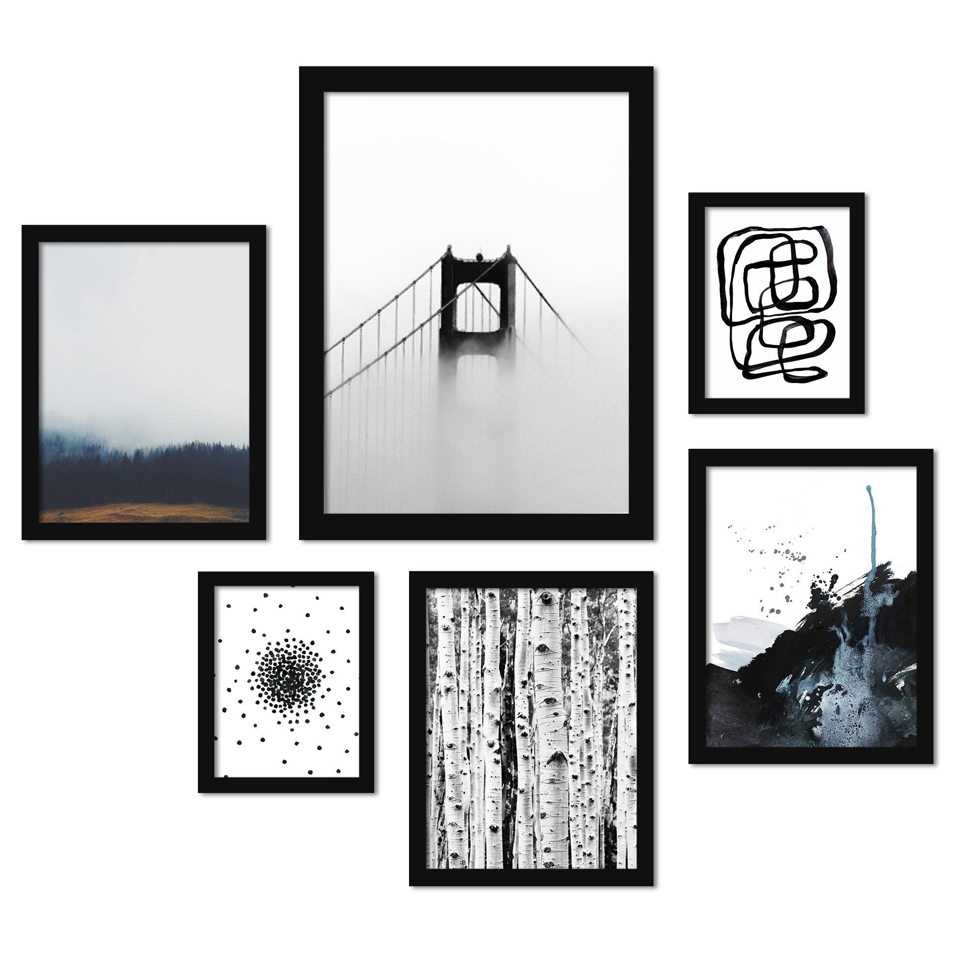 East Urban Home Modern Mist 6 Piece Wrapped Canvas Textual Art Print Set Reviews Wayfair