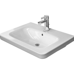 DuraStyle Ceramic 26 Wall Mount Bathroom Sink with Overflow by Duravit