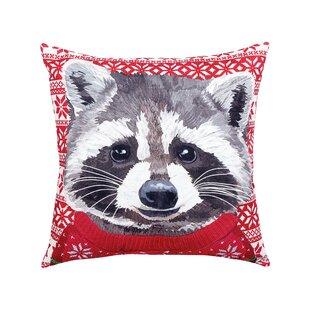 Felten Raccoon Indoor/Outdoor Throw Pillow