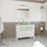 Kingsville 36 Single Bathroom Vanity Set with Mirror by Ebern Designs