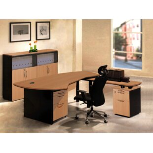 Executive Management 5 Piece L-Shaped Desk Office Suite by OfisELITE New