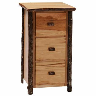 Hickory 3-Drawer File Cabinet by Fireside Lodge