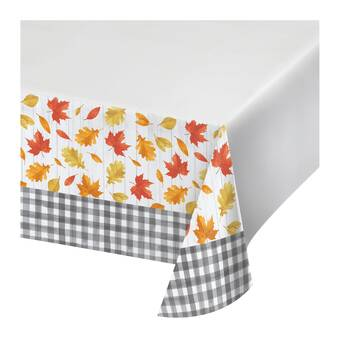 Creative Converting Fall Leaves Plastic Disposable Tablecloth Wayfair