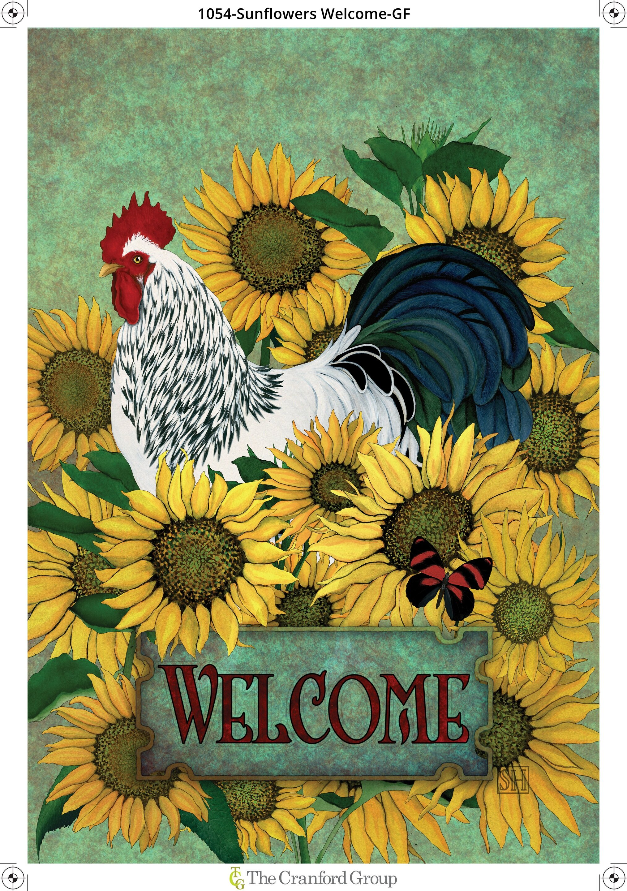 The Cranford Group Welcome Among The Sunflowers Garden Flag Wayfair Ca