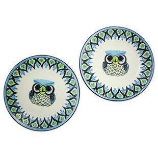 Blanton Owl Dinner Plate Sets (Set of 2)
