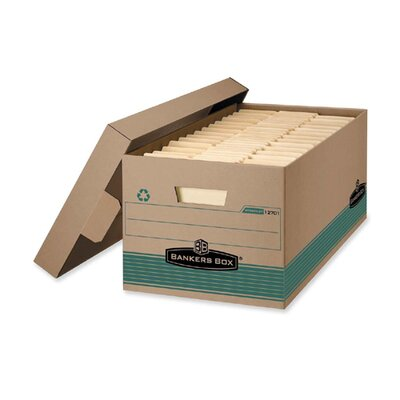 100% Recycled Storage Box, 10w X 24d X 12h, Letter Size, Lift-off Lid, Kft/green Bankers Box