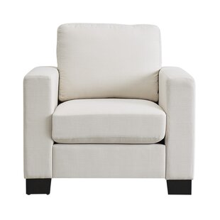 Armour Down-filled Linen Club Chair by Mercury Row