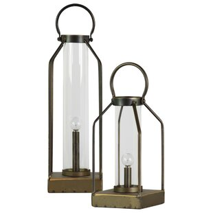 Metal 2 Piece Table Lamp Set