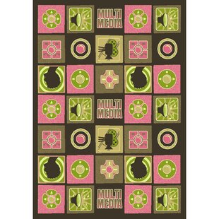 Green/Pink Area Rug byThe Conestoga Trading Co.