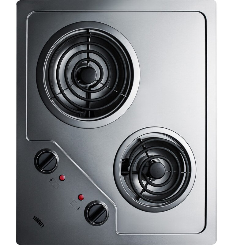 Summit 21 Electric Cooktop With 2 Coil Burners