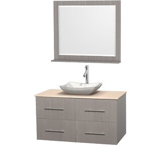 Centra 42 inch  Wall-Mounted Single Bathroom Vanity Set with Mirror