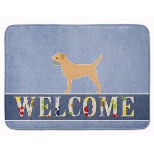 Border Terrier Welcome Memory Foam Bath Rug