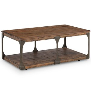 Aradhya Wood Coffee Table With Casters By 17 Stories Cheap Price.