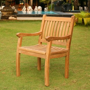 Georgia-May Teak Patio Dining Chair by Darby Home Co