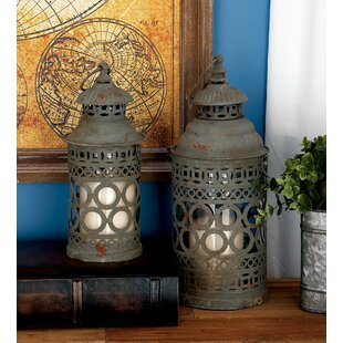 Best Reviews 2 Piece Iron Lantern Set By Cole & Grey