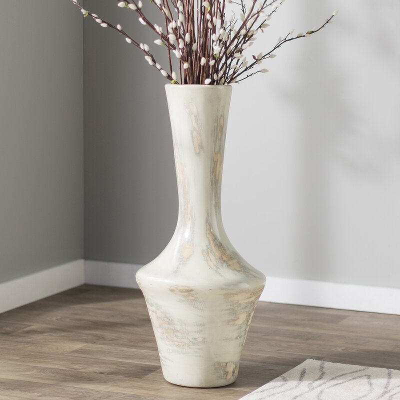 Brayden Studio Gray Mexican Pottery Floor Vase Reviews Wayfair