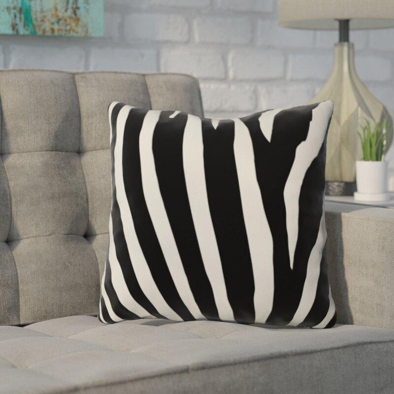 Brayden Studio Caston Zebra Stripes Outdoor Throw Pillow Reviews