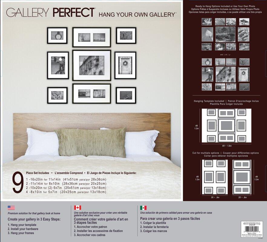 Three Posts Boulware 9 Piece Wood Picture Frame Set & Reviews   Wayfair
