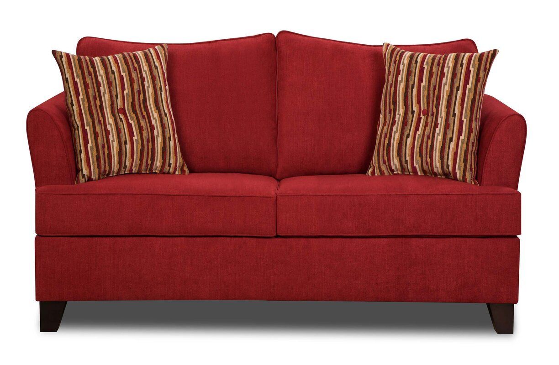 red barrel studio simmons upholstery antin loveseat sleeper sofa  - defaultname