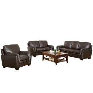 Reviews Whitstran 3 Piece Leather Living Room Set by Darby Home Co Reviews (2019) & Buyer's Guide