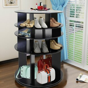 Guide to buy 360° Rotating Entryway 35 Pair Shoe Rack By Latitude Run