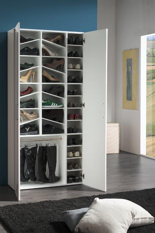 orren ellis schuhschrank f r 32 paar schuhe bewertungen. Black Bedroom Furniture Sets. Home Design Ideas